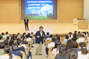 慶応義塾大学オープンキャンパスの様子
